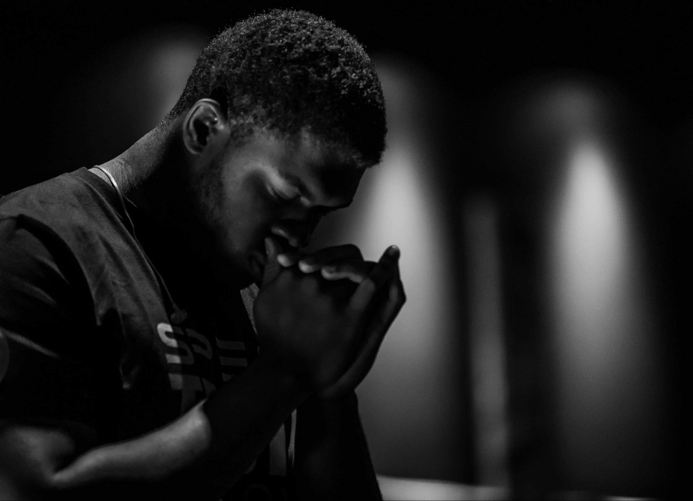 man praying