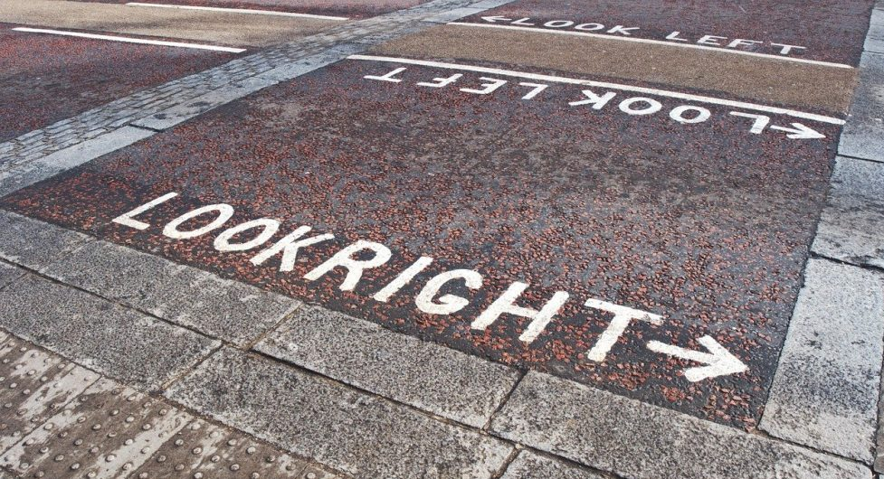 look right look left sign